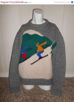 Vintage Clothing Online Vintage wool  ski by ATELIERVINTAGESHOP