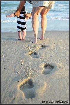 Children's Portraits / Baby / Beach / Footprints / Grandmother / Nantucket / Rachel Larson Photography