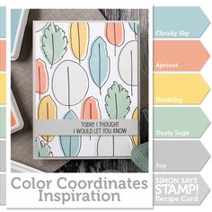 Hi Everyone! Happy Saturday!! It's Shari here with a Color Coordinates recipe and offset stamping technique for you. Do you …