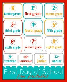 Creative Party Ideas by Cheryl: First Day of School Free Printables