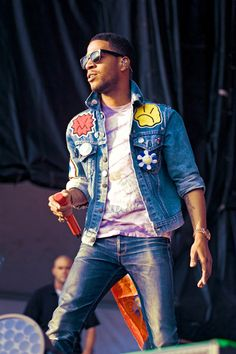 KiD CuDi at the Dave Matthews Caravan in Chicago where I saw him AND WENT BACK STAGE this summer :)