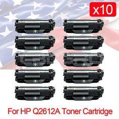 10PK Q2612A 12A Toner Cartridge Compatible for HP LaserJet 1010 1020 3015 3030