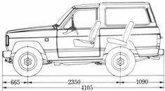 Nissan Patrol blueprint
