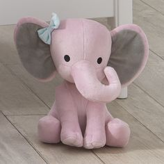 Bedtime Originals Twinkle Toes Pink Elephant Plush Hazel Delivery for sale online Elephant Stuffed Animal, Stuffed Animal Patterns, Pink Elephant, Elephant Nursery, Baby Elephants, Indian Elephant, Diy Baby Gifts, Baby Shower Gifts, Homemade Stuffed Animals