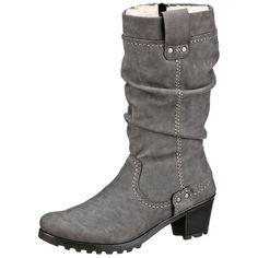 #RIEKER #Damen #Stiefel #grau - Für die wintertauglichen Qualitäten Ihrer neuen…