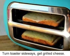 Want a wick and easy grilled cheese sandwich