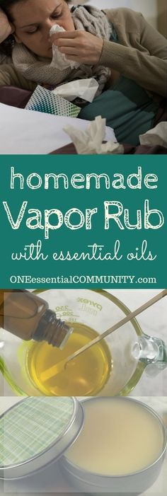 Natural, but effective, homemade essential oil vapor rub. Temporary relief of stuffy nose and congestion, supports immune system, soothes sore muscles, temporarily supports clear breathing as it helpsrelax and geta good night's sleep. Plus it's easy to make with only 2 ingredients + essential oils