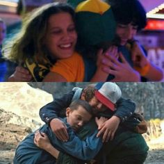 Friend's hugs after defeating big problem Watch Stranger Things, Stranger Things Actors, Stranger Things Have Happened, Stranger Things Aesthetic, Stranger Things Season 3, Stranger Things Netflix, Cute Hug, Best Shows Ever, Fangirl