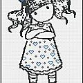 Gorjuss Robe à coeur Grille Gratuite - ¸.•♥•.¸¸.•♥ Rose tendresse•♥•.¸¸.•♥•.¸
