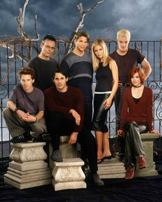 The Cast... Oz,Giles,Xander,Riley,Buffy,Spike,& Willow