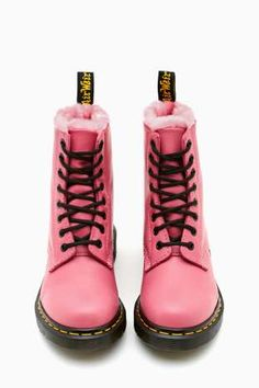 Martens Serena 8 Eye Boot - Pink in Shoes at Nasty Gal Doc Martens Outfit, Pink Doc Martens, Dr Martens Boots, Doc Martins, Galaxy Converse, Botas Dr Martin, Cute Shoes, Me Too Shoes, Repetto