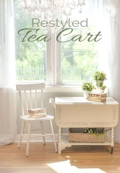 Restyled Tea Cart #GeneralFinishes #Linen #Matched