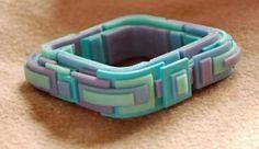bracelet by Moïse Vanden Broeck....very different way of making  bracelet but looks pretty cool!