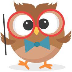 owl with glasses owl clip art and scrapbooking rh pinterest com cute school bus clipart cute school clip art free