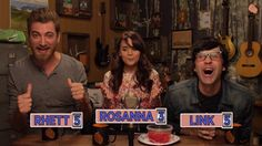 To the left we have Rhett...in the middle we have Rosanna...to the right we the Sugarless Daddy. Nuff said.