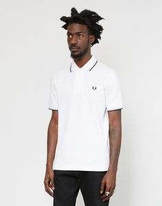 Fred Perry M12 Twin Tipped Polo Shirt White