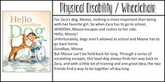 Children's Books That Include Characters with Disabilities Hello Goodbye, Disability Awareness, Best Novels, Preschool Books, James Patterson, Nicholas Sparks, Learning Disabilities, Special Needs, Book Lists