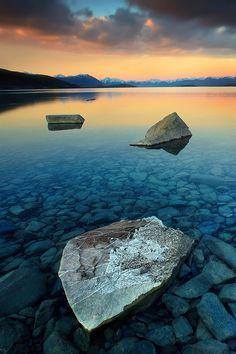 Lake like Glassby Christian Lim. Wilderness Campsites.