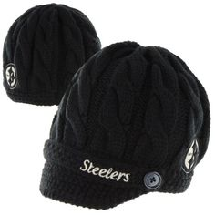47 Brand Pittsburgh Steelers Ladies Sky Box Knit Beanie - Black 180859735