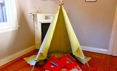 Make An Indoor Teepee - Indoor Teepee - Build A Teepee - Winter Craft
