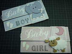 (EK) Baby Kado-enveloppen!! Fancy Envelopes, Decorated Envelopes, Handmade Envelopes, Gift Envelope, Envelope Art, Envelope Design, Baby Scrapbook, Scrapbook Cards, Scrapbooking