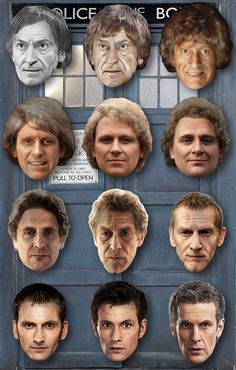 The 'mid-regeneration' Doctors, look at the  Tennant mixtures!