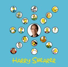 This is pretty impressive. Charts so that you can keep track of who voices your favorite characters on the Simpsons - first up Hank Azaria The Simpsons Game, Simpsons Characters, Simpsons Funny, Ned Flanders, Futurama, Voice Actor, The Simpsons, Hilarious Pictures, Funny