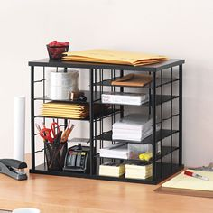 Customizable storage can be configured to fit the needs of your home or office. Removable shelves allow for customization of storage areas.
