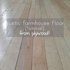DIY Plywood Floor