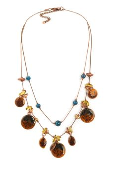 2 Strand Autumnal Disc Necklace | Christopher and Banks