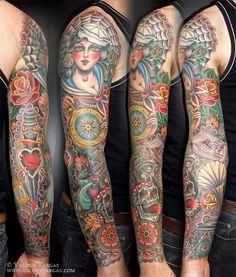 Tattoos by Valerie Vargas at Frifth St Tattoo