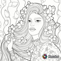 937 Best Beautiful Women Coloring Pages For Adults Images In