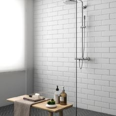 The Vital range of brick tiles features black, grey and white metro tiles perfect for bathrooms and kitchens. These flat gloss tiles can be co-ordinated together or used individually for stylish simple designs.