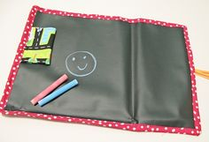 Travel Roll-Up Chalk Mat -- Great for taking in the car or to the doctor's while you are waiting --Tutorial