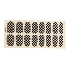 QINF 16PCS European Fashion Simple BlackandWhite Glitter Grid Wedding Nail Art Stickers -- Check out this great product.