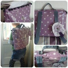 *Tadaam !: Tuto cartable étoilé Sewing For Kids, Sewing Ideas, Gym Bag, Diaper Bag, Crafts For Kids, Diy, Creative Crafts, Crafts For Children, Fai Da Te