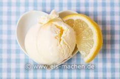Cremiges Zitroneneis