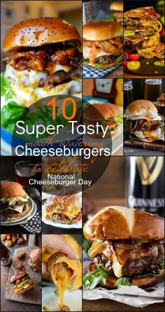 Fire up your grill and enjoy a thick, juicy, cheeseburger but not before you check out these drool-worthy recipes to help you celebrate! #NationalCheeseburgerDay http://kitchendreaming.com/10-tasty-burgers-national-cheeseburger-day/