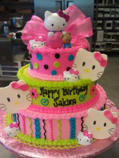 Alyssa wants hello kitty or princess for her birthday. I want this cake! lol