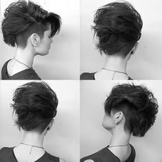 Something wild, yet simple I did at my class in Massachusetts today for my friend @tara_abramowicz There is nothing better than when stylists end up being models, it's a whole other level of learning. #americansalon #modernsalon #hairbrained #barbersinctv #barbershopconnect #pixiecut #undercut #nothingbutpixies #btcpics #womenshair