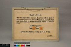 Schild, Bundesanstalt für Arbeitsvermittlung und Arbeitslosenversicherung
