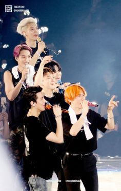 Members of the K-Pop groups use this fandom name to address their fans and call them in a loving and sweet way. Kpop Exo, Exo Bts, Got7, Baekhyun Chanyeol, Exo Chen, Chanbaek, K Pop, Luhan And Kris, Exo Official
