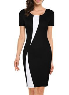 online shopping for WOOSEA Women's Short Sleeve Colorblock Slim Bodycon Business Pencil Dress from top store. See new offer for WOOSEA Women's Short Sleeve Colorblock Slim Bodycon Business Pencil Dress Trendy Dresses, Casual Dresses, Dresses For Work, Fashion Magazin, Dress Outfits, Fashion Outfits, Party Outfits, Fashion Boots, African Fashion Dresses