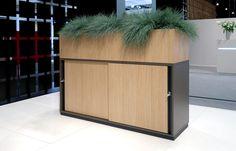 Image result for kantoormeubelen kast planten