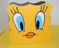 Tweety Bird Wood Napkin Holder Hand Painted by Ann Lihl. Is for sale on ETSY! One of a kind!