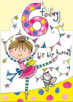 Rachel Ellen Age 6 Ballerina Birthday Card: Amazon.co.uk: Office Products