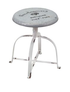 "Gerty Metal Stool 16.75""""h x 13.75""""d"