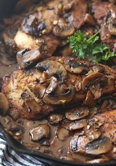 Skillet Balsamic Garlic Chicken - Cookies and Cups