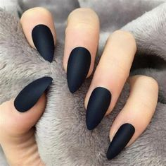 Make Beautiful Almond Marble Nails Art Ideas – Page 26 – BeautyCuco Blog #AcrylicNailsForSummer Blue Glitter Nails, Black Acrylic Nails, Matte Black Nails, Almond Acrylic Nails, Summer Acrylic Nails, Black Almond Nails, Marble Nail Designs, Marble Nail Art, Acrylic Nail Designs