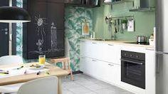 ikea kjøkken på hytte – Google Søk Decoration, Corner Desk, Kitchen Decor, Kitchens, Furniture, Cabinet, Design, Inspiration, Home Decor
